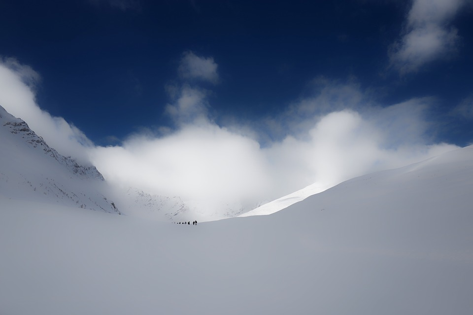 Mountain, Snow, Winter, Clouds, Sky, People, Men, Skier