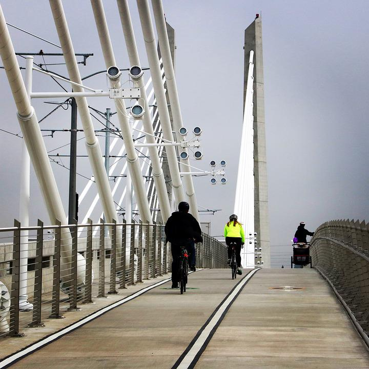 Portland, People's Bridge, Walking
