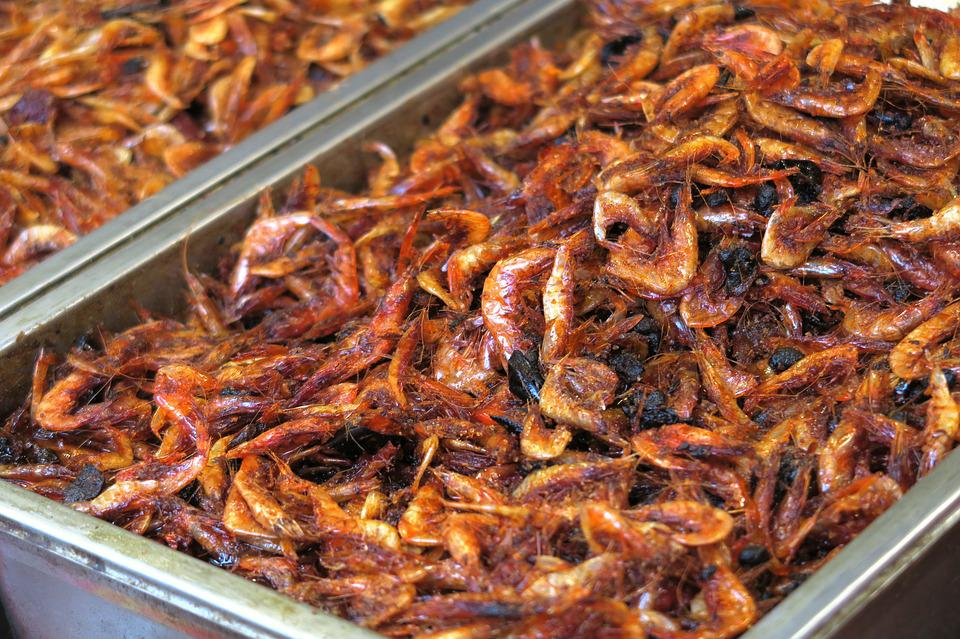Shrimp, Fried, Deep-fried, Pepper, Spicy, Seafood