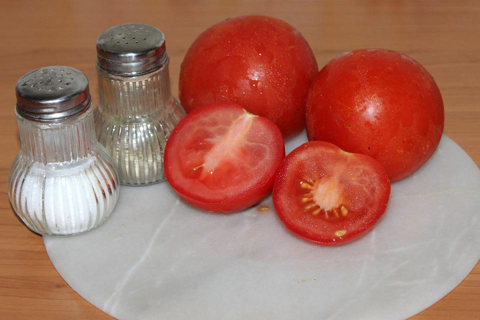 Tomatoes, Salt, Pepper, Frisch, Healthy, Food