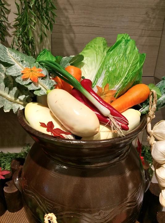 Jar, Moo, Leek, Pepper, Carrot, Chinese Cabbage, Garlic