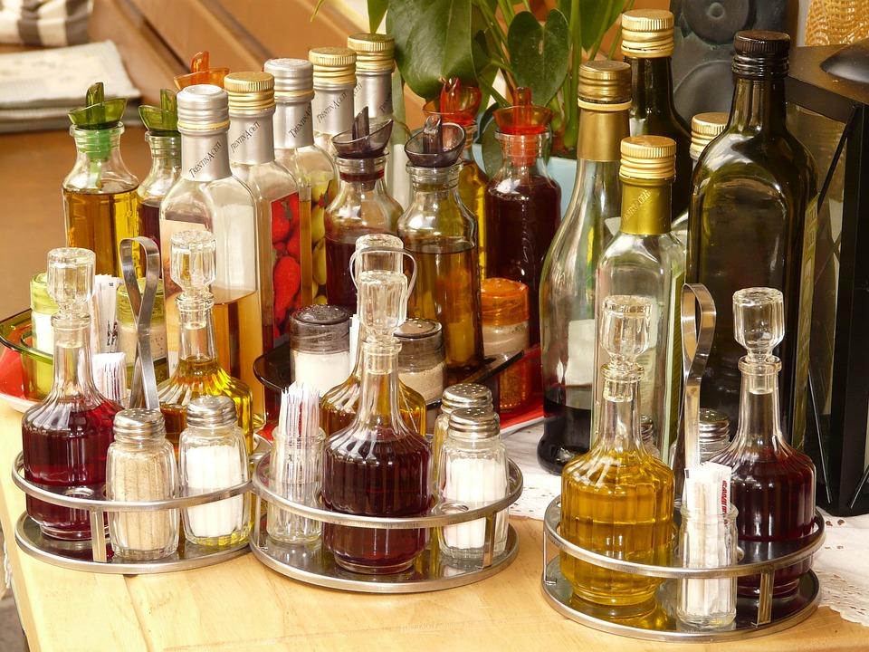 Salt, Pepper, Vinegar, Oil, Salt Shaker, Bottle
