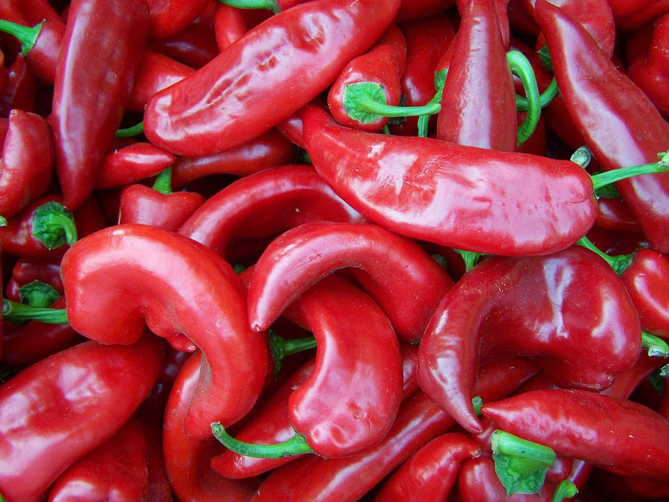 Pepper, Red, Vegetables