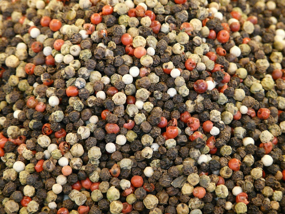 Pepper, Colorful Pepper, Peppercorns, Spice, Sharp