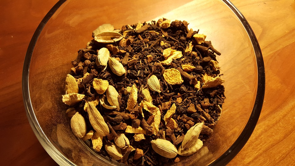 Chai, Tea, Spices, Cloves, Cardamom, Peppercorns