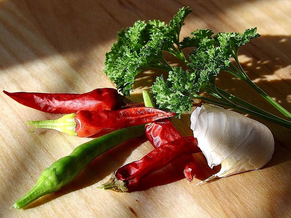 Parsley, Garlic, Peppers, Chili, Chillies, Vegetables