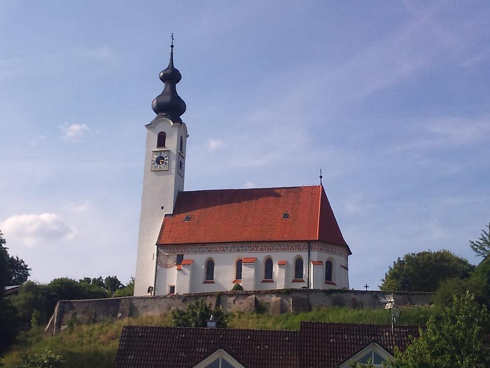 Perach, Church, Inn, Maria Himmelfahrt
