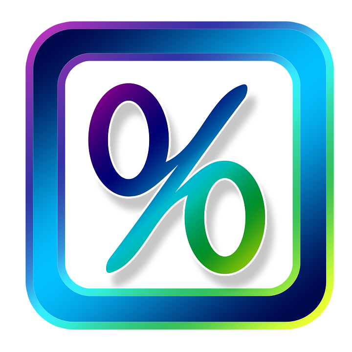 Icon, Percent, Symbols, Online, Internet, Www, Web