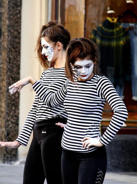 Mime, Art, Performance, Street, Female, Expression
