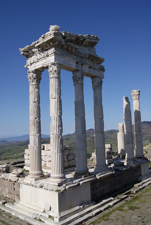 Pergamon, Turkey, Temple, Columnar, Historically