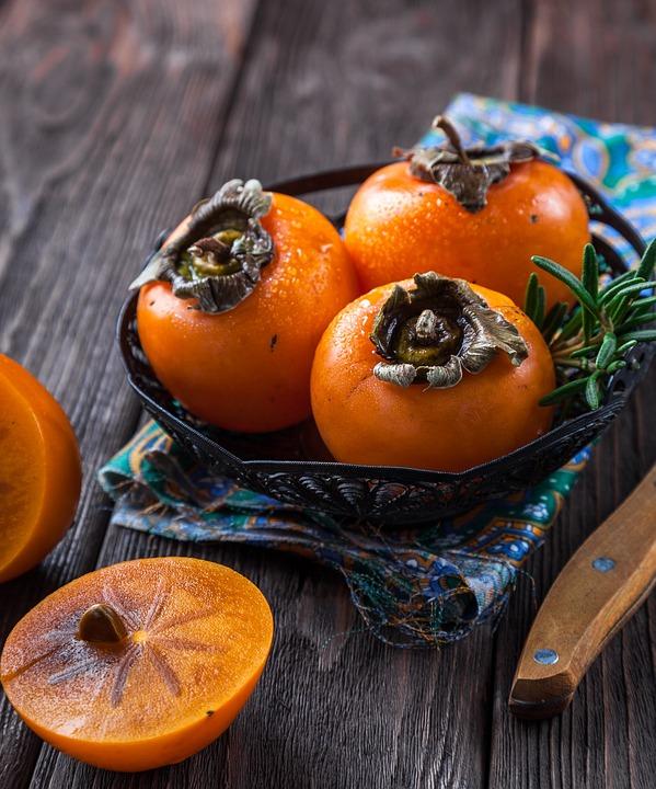 Persimmon, Fruit, Orange, Exotic, Tropical