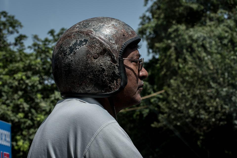 Bike Helmet, Man, Person, Safety
