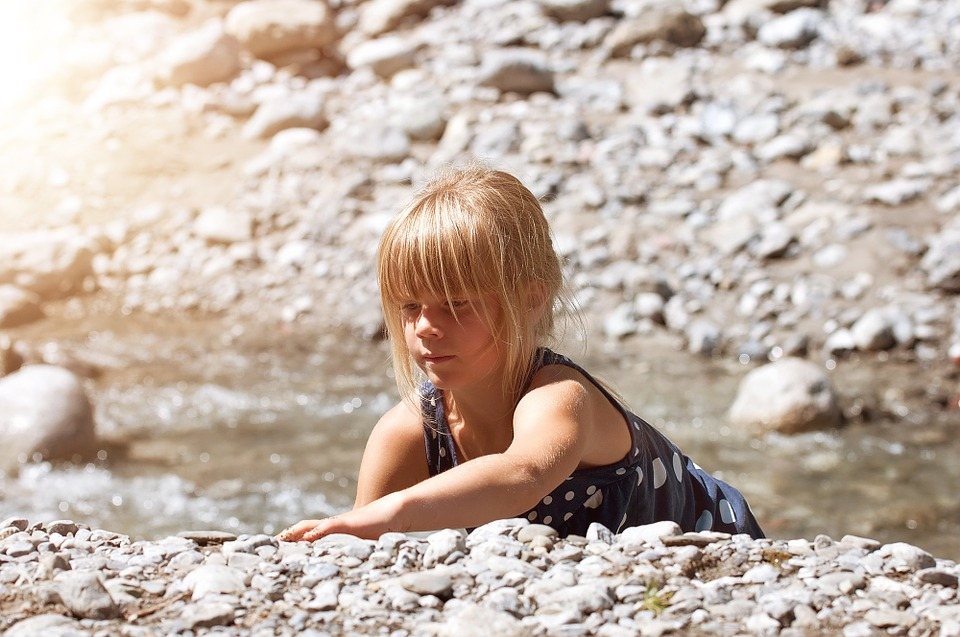 Person, Human, Child, Girl, Blond, Out, Nature, Bach