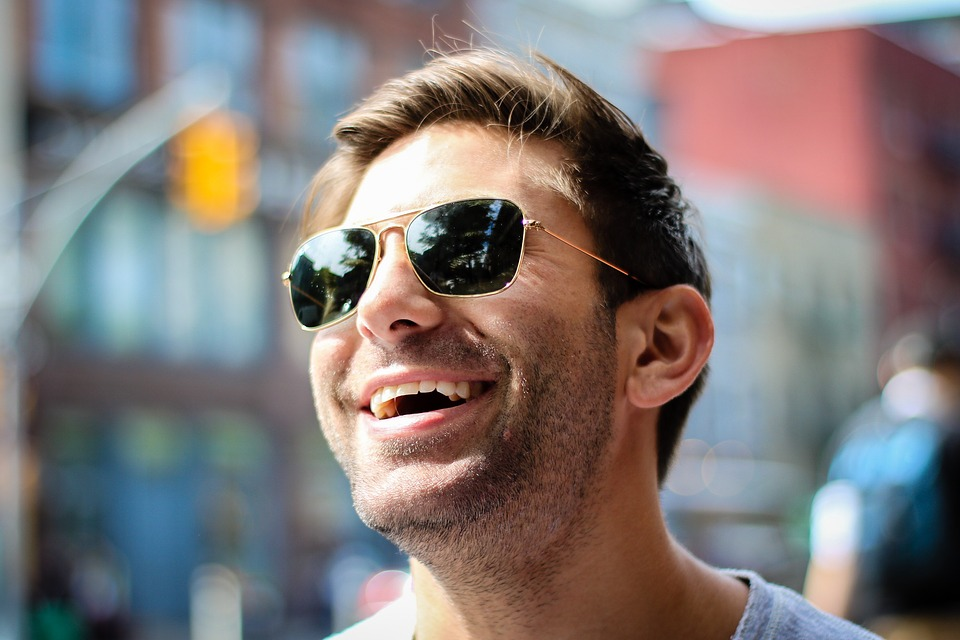 Happy, Man, Adult, City, Face, Guy, Outdoors, Person