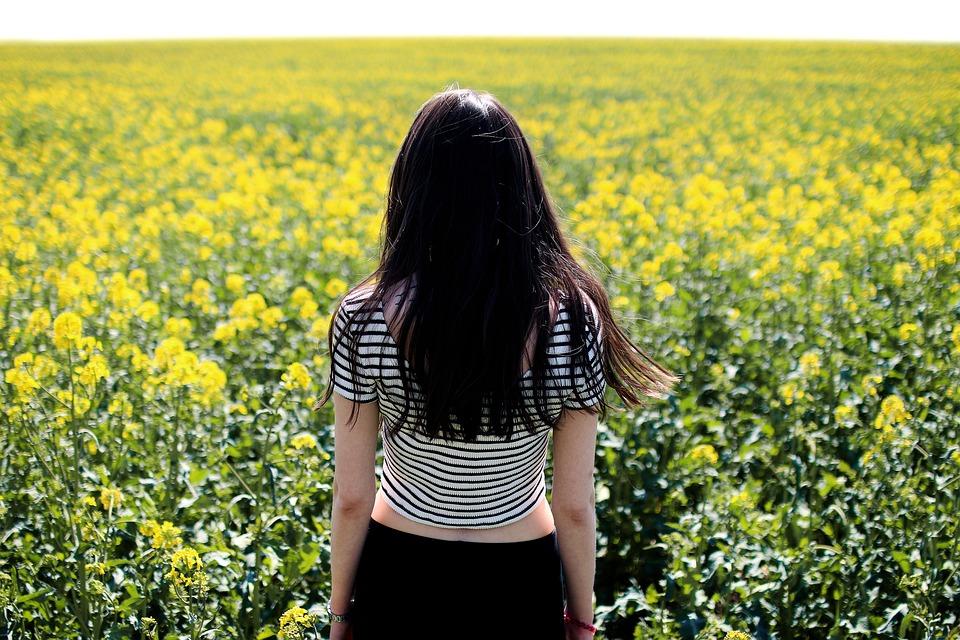 Female, Field, Person, Plants, Woman