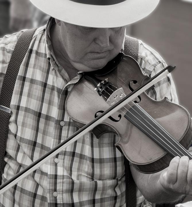 Man, Person, Fiddle, Music, Country, Southern, Cowboy