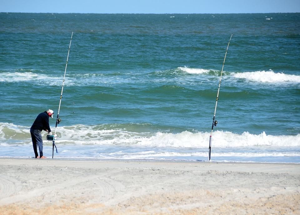 Surf Fisherman, Surf, Fishing, Recreation, Person