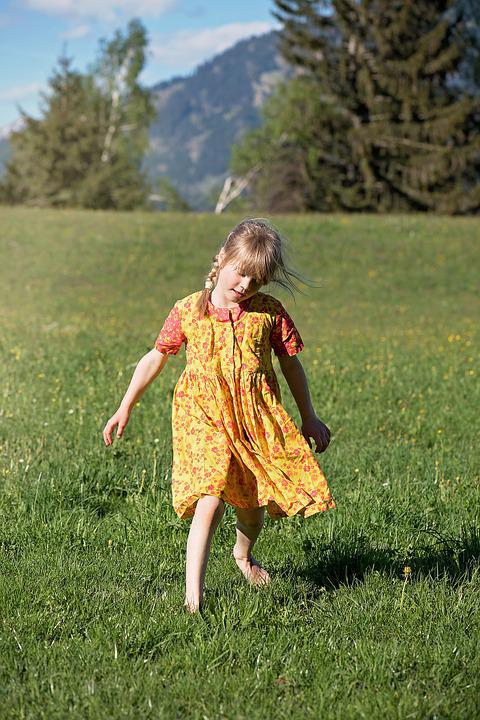 Person, Human, Child, Girl, Landscape, Meadow, Nature