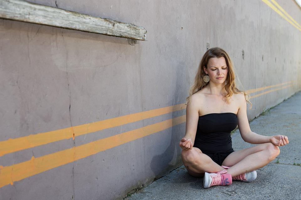 Meditation, Yoga, Woman, Blond, Person, Female, Legged