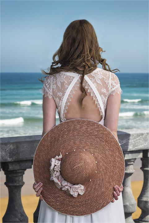 Woman, Looking Out To Sea, Women, Pamela, Hair, Person