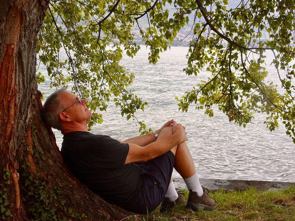 Contemplation, Male, Person, Relaxing, Pensive, Nature