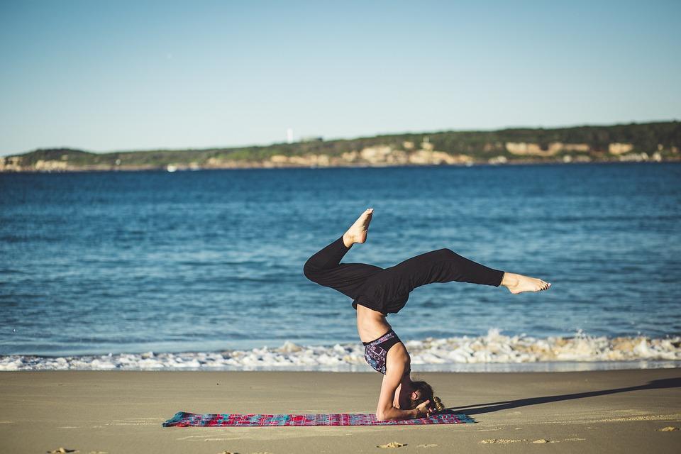 Yoga, Balance, Zen, Beach, Ocean, Meditation, Person