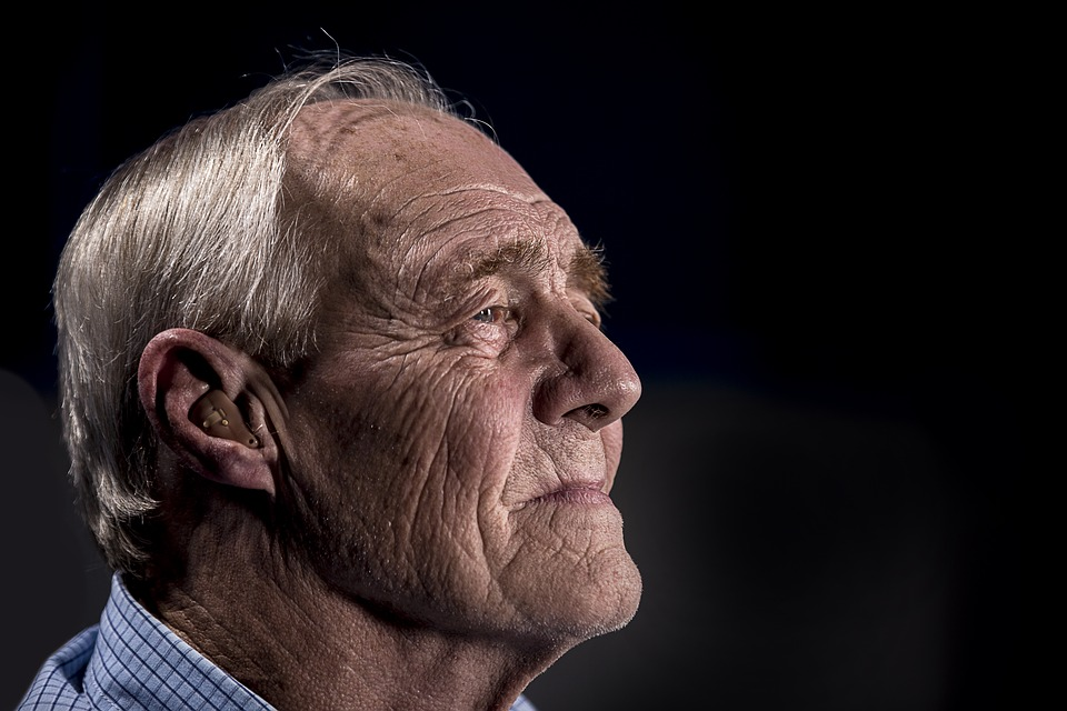 Adult, Elderly, Face, Man, Old, Person, Side View