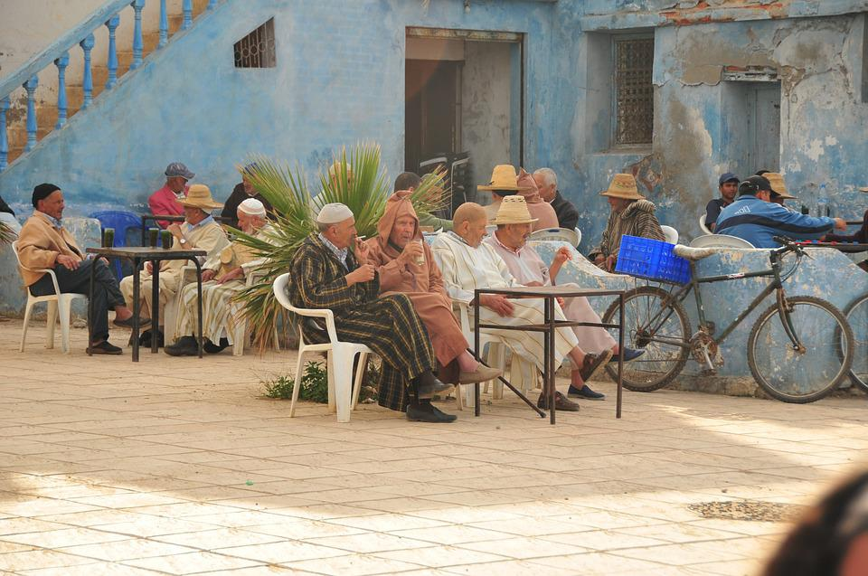 Men, Morocco, Coffee, Old, Person, Oued Laou
