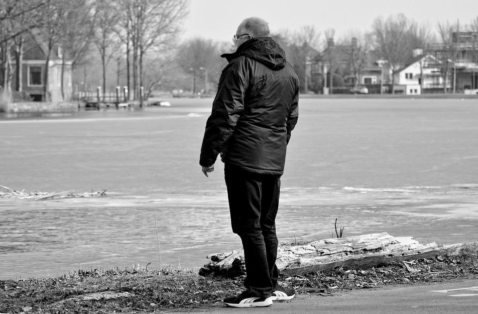 Man, Person, People, Male, Standing, Outdoor, River