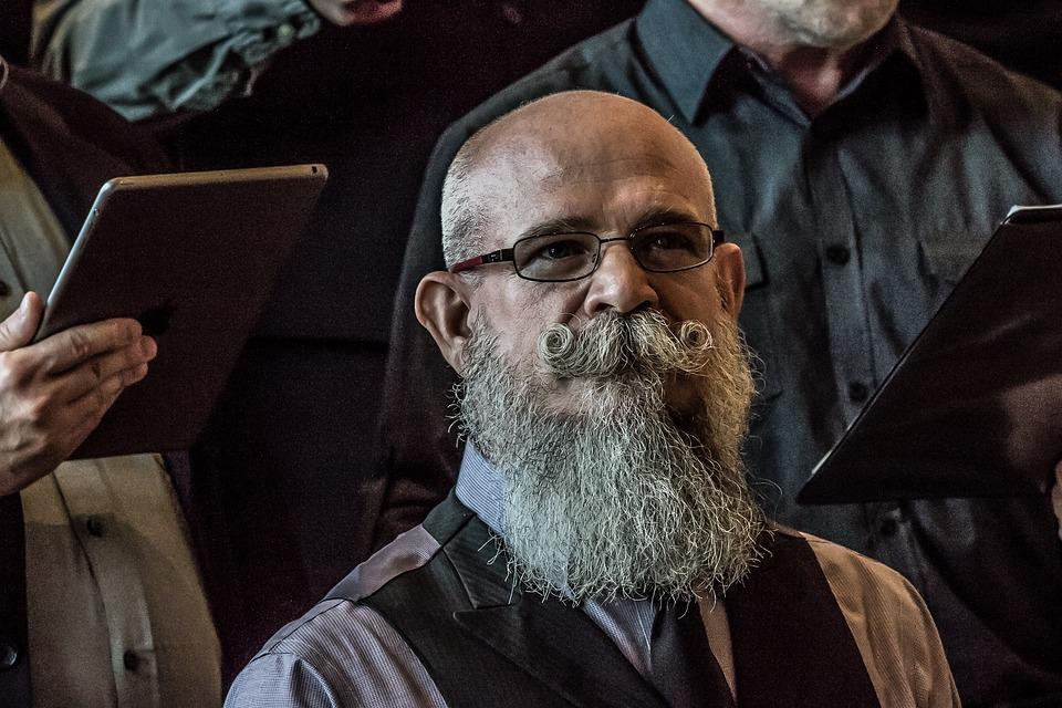 Beard, Facial Hair, Man, Mustache, Person, Portrait