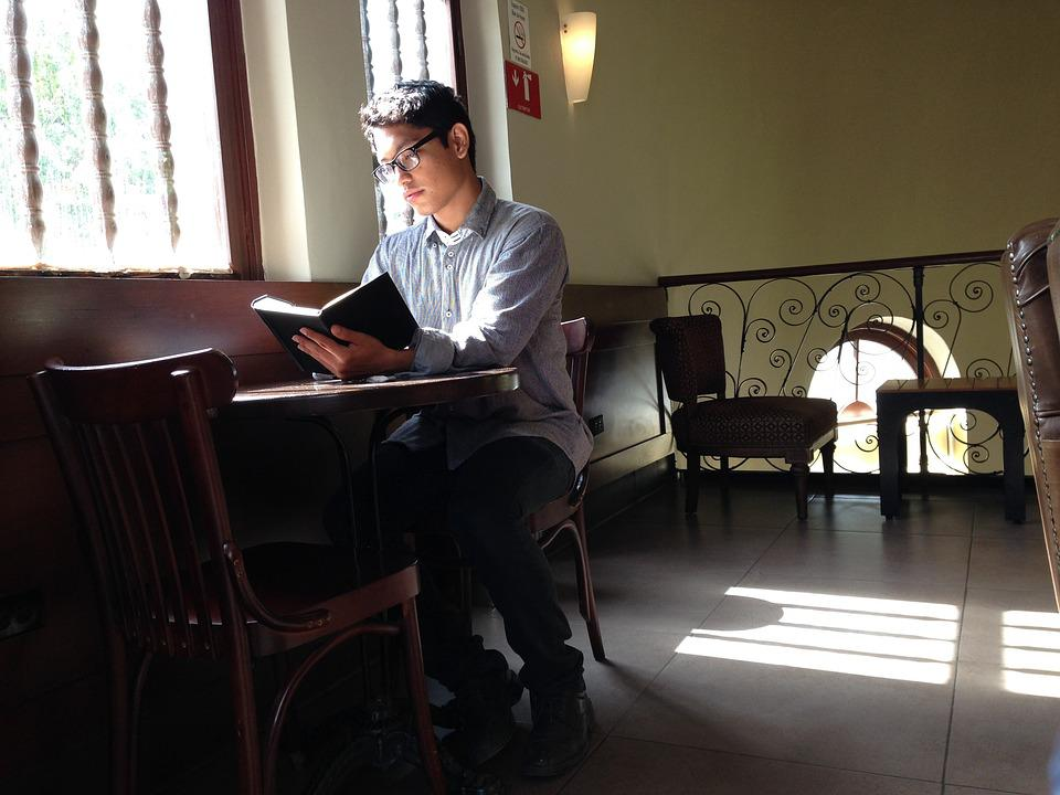 Study, Young, Chair, Student, Person, Reading, Male