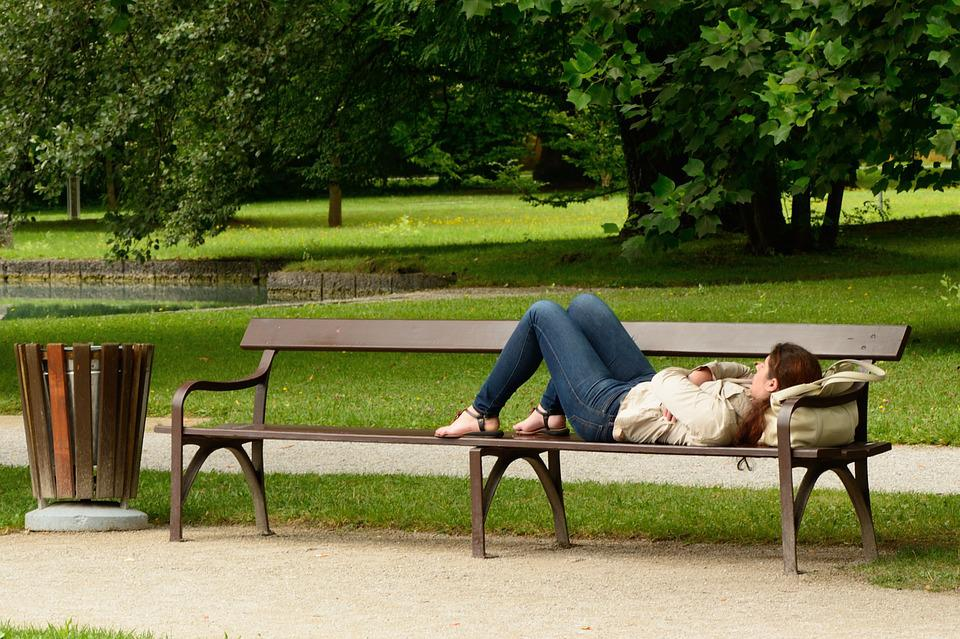 Bench, Bank, Person, Human, Out, Nature, Resting Place