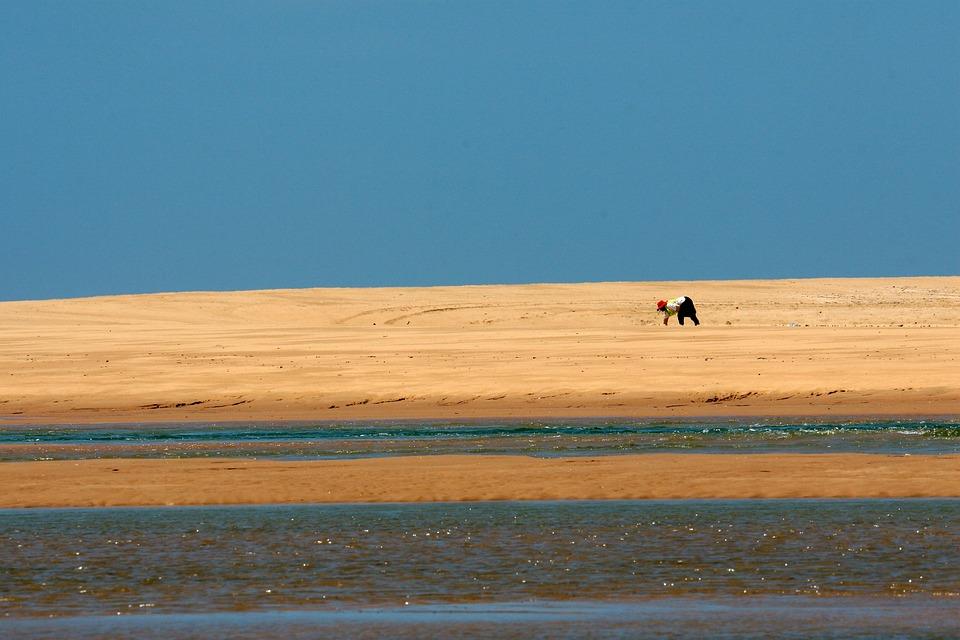 Beach, Sand, Dune, Water, Person, Indian Ocean, Natal