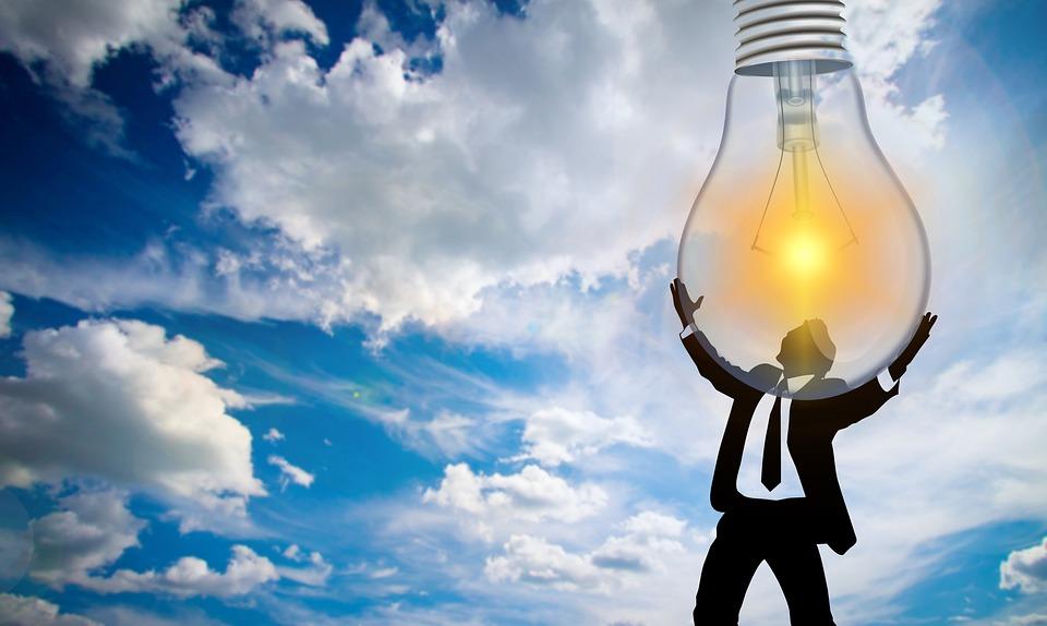 Person, Pear, Light Bulb, Sun, Solar Energy, Light