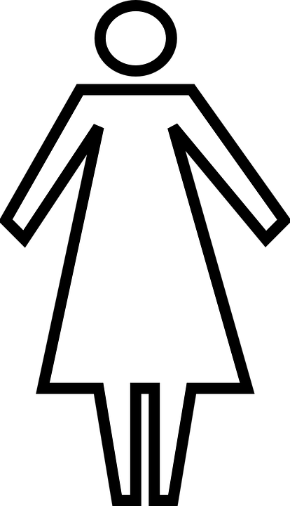 Woman, Restroom, Toilet, Female, Person, People