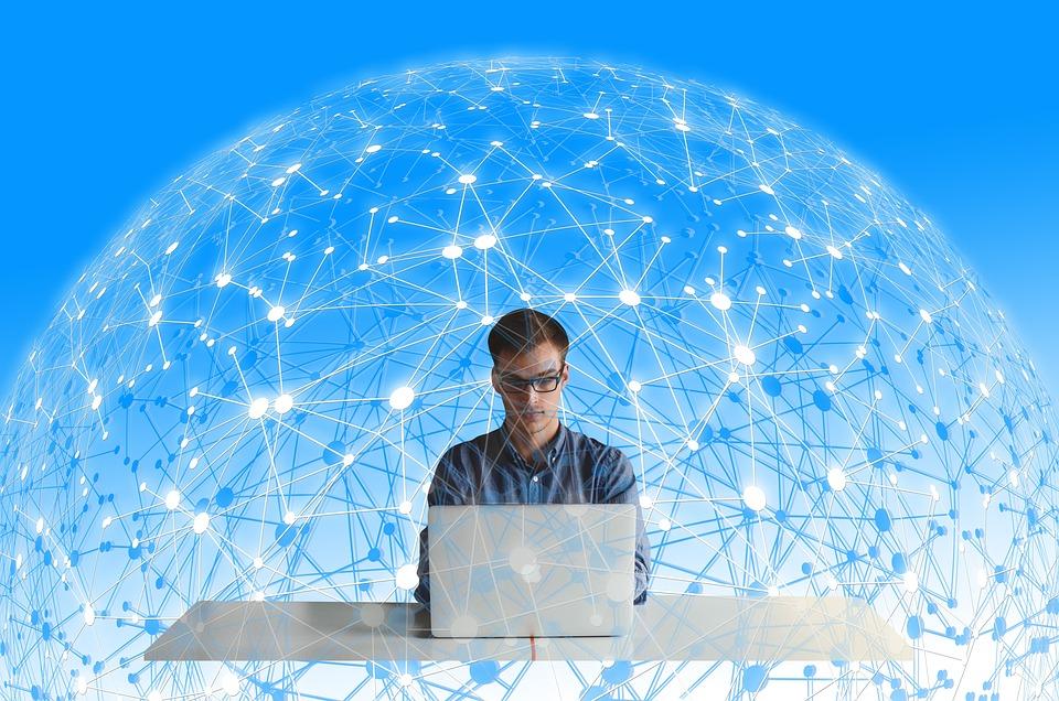 Network, Web, Person, Man, Laptop, Social, Human