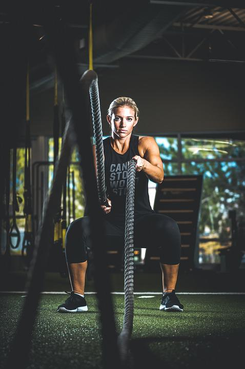 Exercise, Fit, Healthy, Person, Rope, Woman, Workout