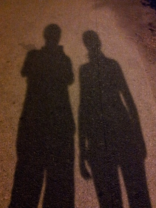 Shadow, Figures, Human, Personal