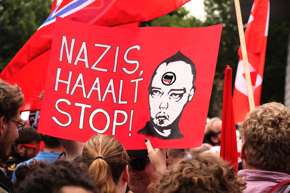 Nazi, Demonstration, Shield, Poster, Human, Personal