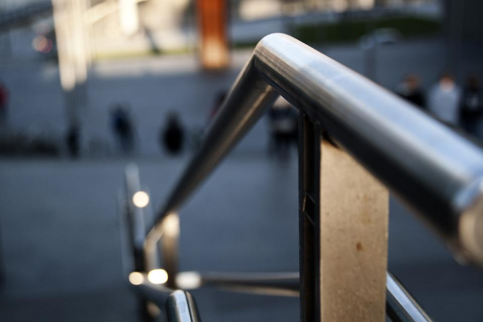 Handrail, City, Urban, Perspective, Architecture, Light