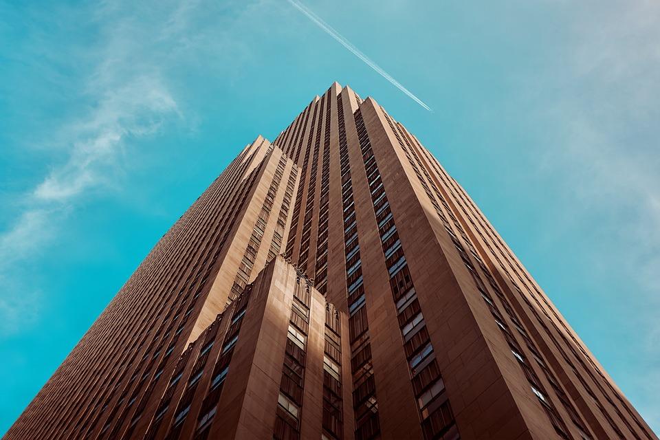 Building, High-rise, Perspective, Sky, Skyscraper