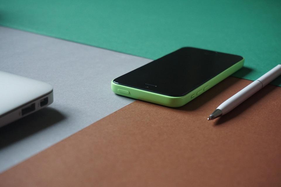 Iphone, Laptop, Macbook, Pen, Perspective, Phone