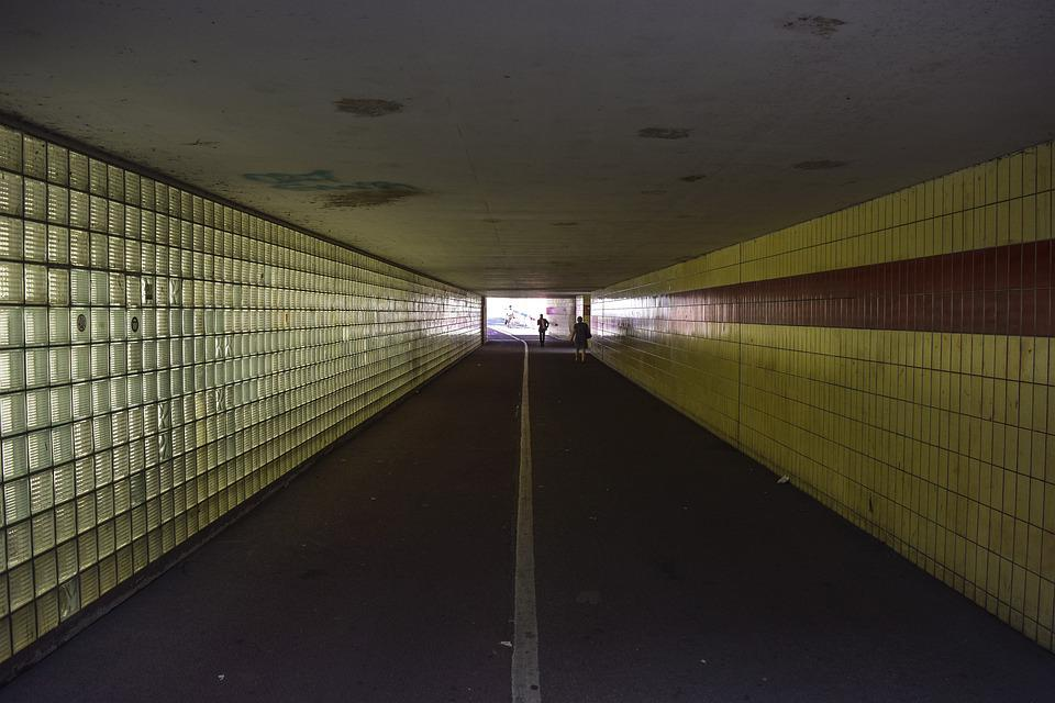 Architecture, Passage, Tunnel, Away, Light, Perspective