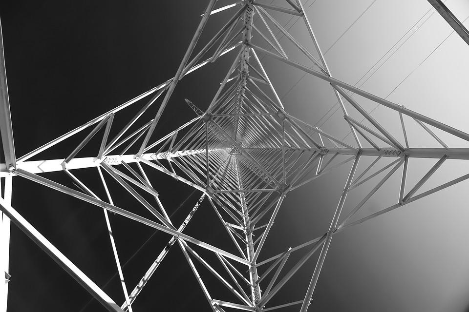 Strommast, Perspective, High Voltage, Pylon, Current