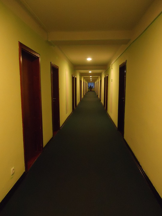 Hall, Perspective, Hotel Lobby, Vanishing Point