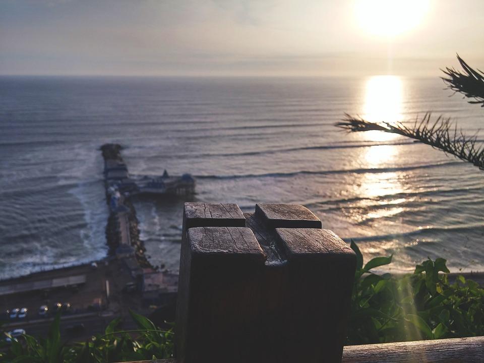 Peru, Lima, Beach, Sol, Landscape