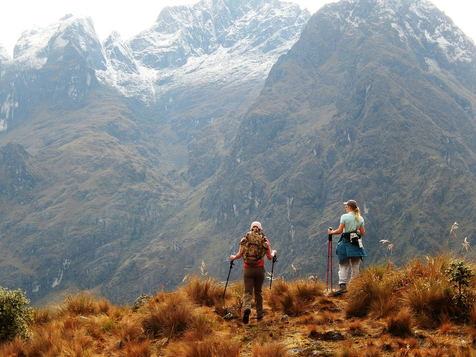 Inca Trail, Hiking, Panorama, Inca, Peru, Mountains
