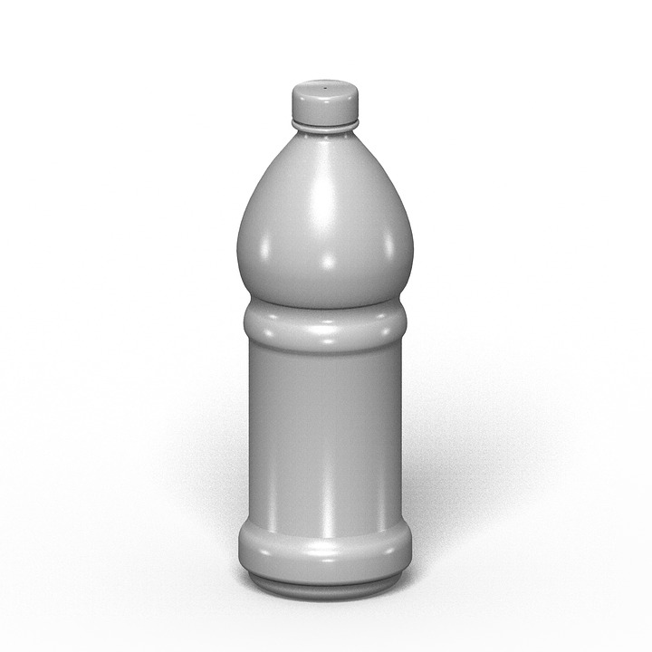 Bottle, Container, Pet, Mockup, White, Packing