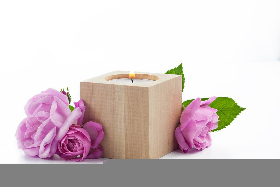 Flowers, Petals, Roses, Candle, Bloom, Blossom, Bouquet