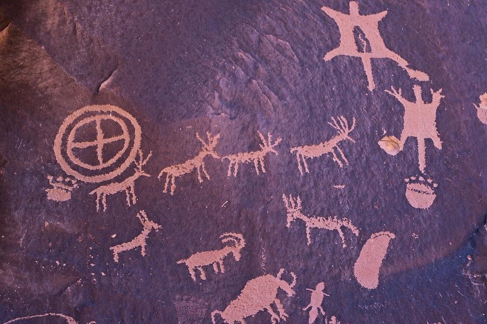 Newspaper Rock Drawings, Petroglyph, Rock, Petroglyphs